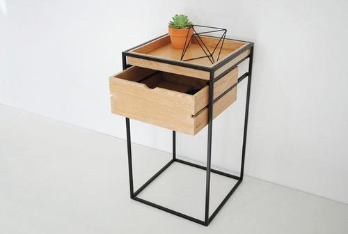 De Acero Y Madera Mueble Diseño Moderno Mueble Mesa  $ 2,69900 en
