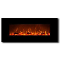 Chimenea Electrica De Pared Color Onyx Control Remoto 50