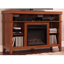Mueble Calefactor Chimenea Eléctrica 121cm Caoba