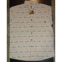 Camisa Pez Espada Woolrich Para Hombre Pesca Camping Talla L