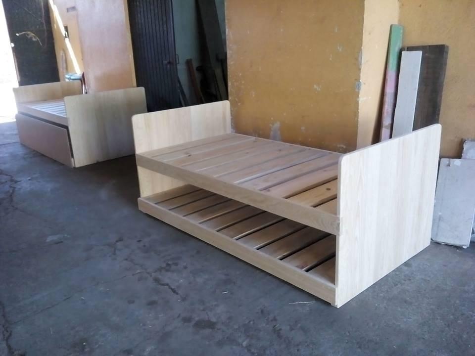 Cama nido cama doble cama individual juvenil infantil vbf for Precios cama nido juvenil