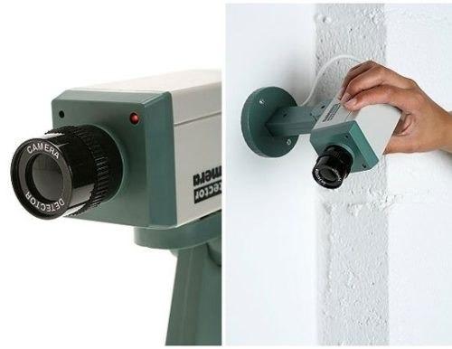 Camara seguridad falsa con detector movimiento luz led - Detector movimiento luz ...