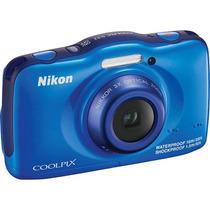 Nikon Coolpix S32 13.2mp 3x Camara Digital A Prueba De Agua