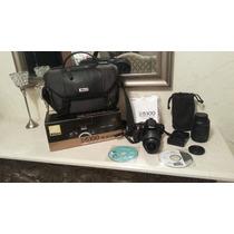 Cámara Nikon D5100 Lente 18-55mm Y 55-200mm Estuche Original