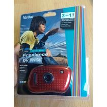 Padrisima Camara Freelance Vivitar Roja 100% Original!!