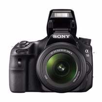Slt-a58k Digital Slr Kit With 18-55mm 20.1mp Color Negra