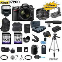Nikon D7200 + 18-140mm + 50mm + 26 Accesorios Full