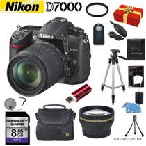 Nikon D7000 + 18-140mm + 13 Accesorios + 12 Msi