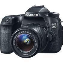 Cámara Canon Eos Dslr 70d Con Lente 18-55mm Is Envío Gratis!