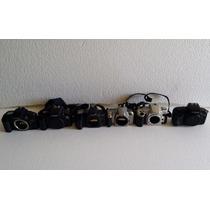 Lote De 6 Camaras Profesional Analogas Canon , Nikon,minolta