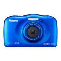 Cámara Digital Sumergible S33 Nikon Azul 13.2 Mpx