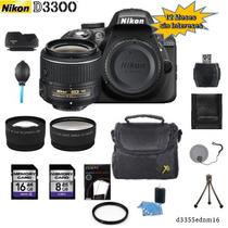 Nikon D3300 + 18-55mm +2 Lentes + 12 Accesorios