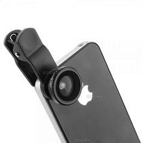 Lente Macro Wide Fish Eye 3 En 1 Universal Ojo Pez Iphone