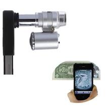 Lente Microscópico Zoom 60x Led Para Iphone 4 Y 4s