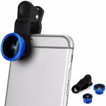 Kit Lentes Universal Eye Fisheye-wide+macro /iphone, Samsung