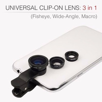 Lente 3 En 1 Universal Celular Tablet Iphone Galaxy Ojo Pez