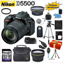 Nikon D5500 +18-140mm + 2 Lentes Hd + 14 Acc + Regalo + Bono