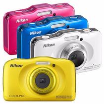 Ituxs | Camara Nikon S33 Sumergible Nueva | Envio Gratis