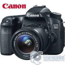 Canon Eos 70d Cámara Digital Dslr Con Lente 18-55mm Stm