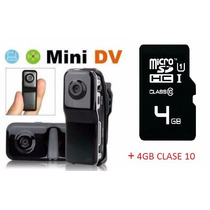 Mini Camara Dv Espia De Seguridad 720 Dvr Video 4gb Clase 10