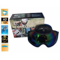 Lentes Deportivos Ski Goggle Con Cámara 720p, Batería Recarg