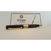 Star Pen Pluma Espia Color Negro Graba Audio Video Y Fotos