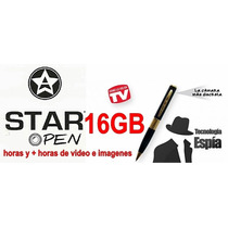 Starpen La Original Pluma Espia Hd Memoria Msd 16gb Incluida