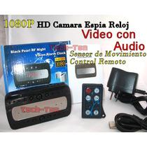Camara Espia Reloj Vision Nocturna Sensor Movimiento Full Hd