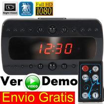 1080p Camara Espia Reloj Sensor Mov. 24 Hr Vision Nocturna