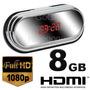 Reloj Espia Fullhd Con Cable Hdmi 8gb Detect Por Movimiento!