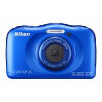 Tb Nikon Coolpix S33 Waterproof Digital Camera (blue)