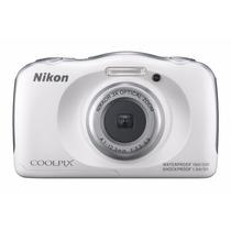 Tb Nikon Coolpix S33 Waterproof Digital Camera (white)