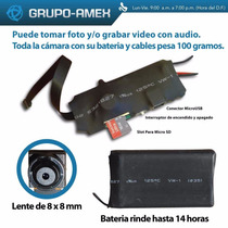 Camara Espia Lente Sony Hd Fotos Audio Video Control Remoto