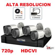 Kit Hd 720p Nueva Tecnologia Hdcvi Videovigilancia 4 Camaras