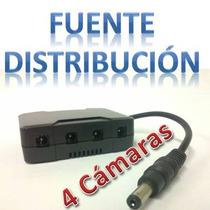 Avtech T4dc Pcon01z Distribuidor De Energía Para 4 Cámaras