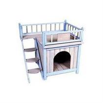 Casa Para Mascotas Perros Resistente Escalera Vv4