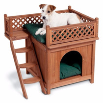Casa Para Mascotas De Madera Con Vista Merry Pet