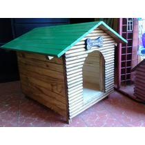 Casa Para Perro De Madera No. 2 Frente De Troncos