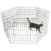 Corral Hexagonal Plegable Para Perro O Conejo.75 Cm Altura