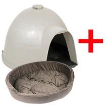 Kit Perros Casa Dogloo Petmate + Cama Xt Gde Mascotas Combo