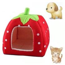 Casa Para Perro Lindo Suave Esponja Fresa Pet Cat Dog House