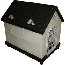 Casa Para Perro Mediano Con Puerta Y Ventanas Cage Land.