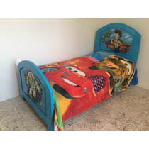 Cama Individual Tallada A Mano En Madera De Cedro Toy Story