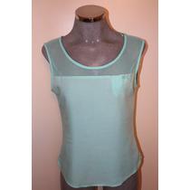 Elegante Blusa Color Aqua Marca Bershka
