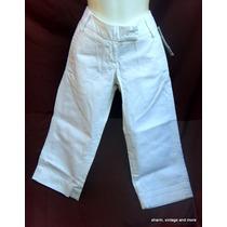 Pantalon Capri Juvenil Blanco Talla 5