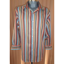Emme Camisa Rayada Talla Grande 100% Algodon