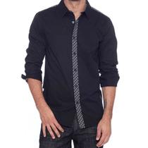 Camisa Guess Casual Fashion Hombre Fiesta Shirt Talla L