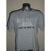 Playera Casual Gris Old Navy 100% Algodon L-36 Dama