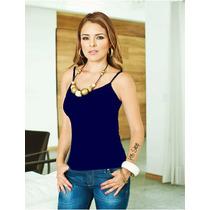 Playera Básica Mujer Marino Talla Chica Moda Urbana