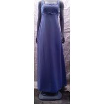 Vestido Azul, Talla 6,de Tirantes Marca Michaelangelo